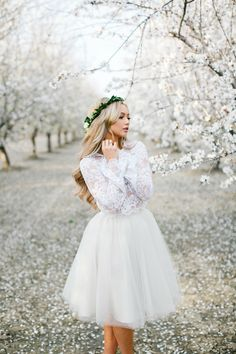 Audrey lace top and Emma tulle skirt by Bliss Tulle