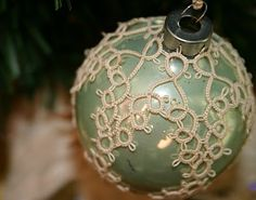 Gorgeous tatted ornament covers.