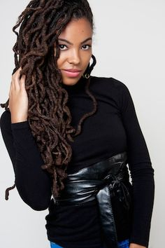 Long locs/dreadlocks - The Knight Twins // Natural Hair Style Icons | Black Girl with Long Hair