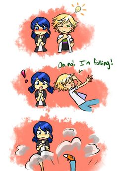 He wanted her to catch him, which would have been hella smooth, if it weren't Marinette you were trying to get to catch you, Adrien😂 I love them so much Miraculous Ladybug Wallpaper, Miraculous Ladybug Fan Art, Ladybug Comics, Miraclous Ladybug, Ladybugs, Marinette E Adrien, Adrien Miraculous, Image Pinterest, Baby Bug