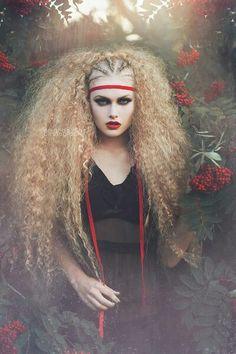 Red Berries by Amanda Diaz / Beautiful Lips, Beautiful Long Hair, Gorgeous Hair, Fashion Photography Poses, Fantasy Photography, Themed Photography, Crazy Hair, Big Hair, Lorde Hair
