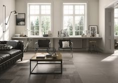 "New to Italia Ceramics: ""Square"" Collection by Italgraniti - Italia Ceramics Carpet Squares, Italian Tiles, Deco Addict, Concrete Tiles, Piece A Vivre, Houzz, Home Collections, Decoration, Contemporary Design"