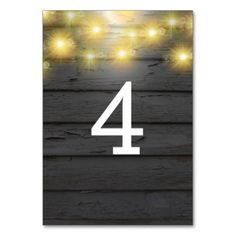 Rustic Country wedding table numbers - barn gifts style ideas unique custom