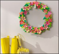 Wreaths are not just for Christmas. Grab some Scotch Expressions Tape and get crafty for Spring Paper Flower Wreaths, Paper Flowers, Fun Crafts, Arts And Crafts, Paper Quilt, Scotch Tape, Decorative Tape, Spring Blossom, Some Ideas