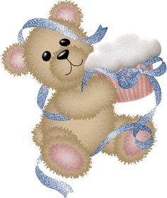 Cupcake glitter gifs