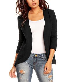 Another great find on #zulily! Black Cardigan Jacket #zulilyfinds