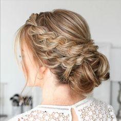 Short Hair Styles Easy, Medium Hair Styles, Curly Hair Styles, Braided Bun Hairstyles, Easy Hairstyles For Medium Hair, Indian Hairstyles, Fall Hairstyles, Braided Buns, Messy Buns