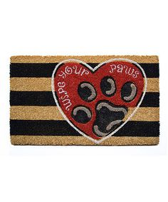 This 'Wipe Your Paws' Coir Mat is perfect! #zulilyfinds
