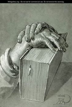 Albrecht Durer (1471-1528) ~ Hand Study with Bible ~ 1506
