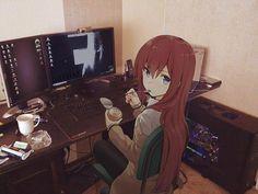 Source material: Steins;Gate #art #anime #steinsgate