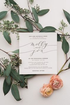 Beautiful Calligraphy Wedding Invitation Card Designed for Weddings in Montana Big Sky and Glacier National Park. /