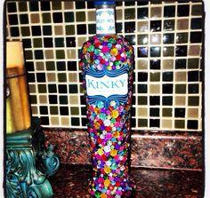 Fun kinky bottle Alcohol Bottle Crafts, Alcohol Bottles, Bling Bottles, Old Bottles, 21 Birthday, Birthday Ideas, Alcohol Bouquet, Project Ideas, Diy Projects