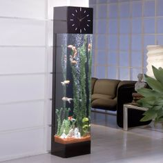 Midwest Tropical Rectangle Aqua Tower Vertical Aquarium for seahorse's or jelly fish Aquarium Design, Home Aquarium, Aquarium Fish Tank, Aquarium Stand, Aquarium Ideas, Unique Fish Tanks, Cool Fish Tanks, Conception Aquarium, Decoration Entree