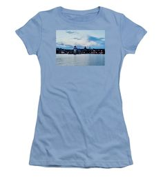 Beautiful Image Women's T-Shirt (Junior Cut) featuring the photograph Father's Day Collection. Sea And Sky by Tiana Art