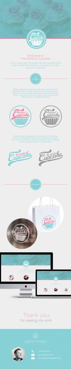 The Perfect Cupcake   Logo & Corporate Identity by James Gollner, via Behance