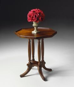 Butler Octagon Accent Table - Plantation Cherry, . $229.00