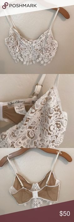 For love and lemons bralette White lace with sheer back. Adjustable For Love and Lemons Intimates & Sleepwear Bras