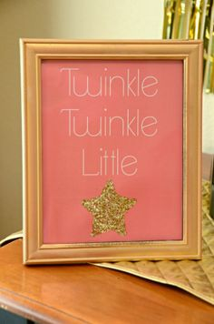 Twinkle Twinkle Little Star Party/ pink & gold party/ star party/