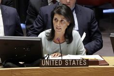 "U.S. Ambassador Nikki Haley condemned Russia's ""aggressive actions"" in eastern Ukraine on Thursday and warned Moscow that U.S. sanctions imposed after its annexation of Crimea will remain until the peninsula is returned to Ukraine."