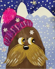 Winter Crafts For Kids Winter Painting, Painting For Kids, Art For Kids, Winter Art Projects, Winter Crafts For Kids, School Holiday Activities, Minecraft Pixel Art, Christmas Paper Crafts, Art Club