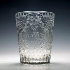 Engraved Vita Vital Tumbler c1768