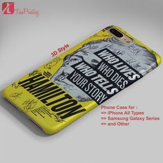 Hamilton Broadway Signatures - Personalized iPhone 7 Case, iPhone 6/6S Plus, 5 5S SE, 7S Plus, Samsung Galaxy S5 S6 S7 S8 Case, and Other