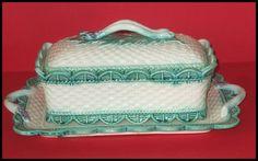 Antique Very RARE Majolica Asparagus Box 3 Pieces   eBay