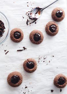 Schokolade Daumenabdruck Kekse
