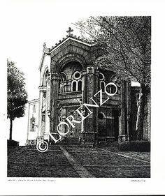 Hellin, Ermita Virgen del Rosario. Dibujo a plumilla sobre papel
