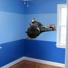 Steam Locomotive Wall Graphic Decal