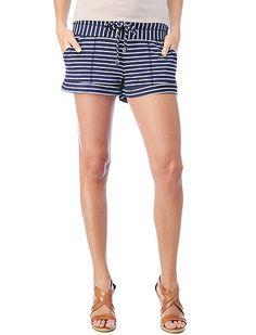 Breton Stripe Active Shorts #splendidsummer