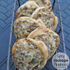 Spicy Sausage Pinwheels #appetizer #recipe