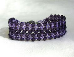 Free pattern for bracelet Dark Violet