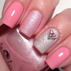 Romantic Pink Nails