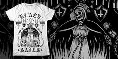 """BLACK SAILS - DEATH"" t-shirt design by blacksailsuk"