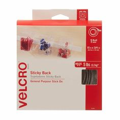 Velcro 30 Hook And 30 Loop Sticky Dots//Coins//Discs White Size 22mm Self Adhesive