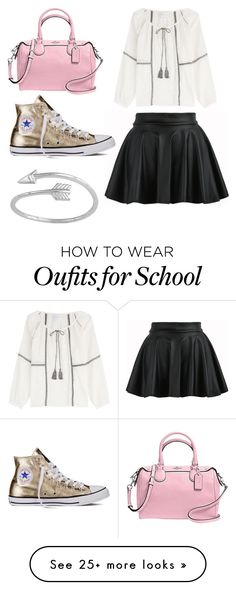 """Back to school"" by alovesicecream on Polyvore featuring Velvet, Coach, Converse and Midsummer Star"