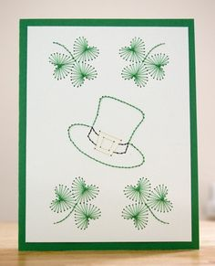Hand-Stitched St. Patrick's Day Card by dominicInOhio
