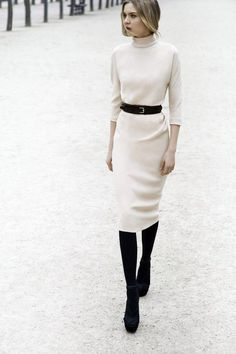 abito bianco inverno moda tendenze - winter white dress