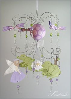 Frog Princess Chandelier Mobile Baby Mobile by fischtaledesigns, $155.00