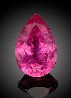 Pink Tourmaline stone - the birthstone for October. Minerals And Gemstones, Rocks And Minerals, Natural Gemstones, Beautiful Rocks, Mineral Stone, October Birth Stone, Pink Tourmaline, Tourmaline Gemstone, Rocks And Gems