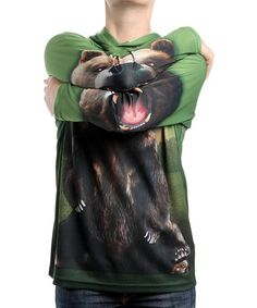 Take a look at this Bear Hooded Tee - Toddler & Kids by Mouth Man on #zulily ! #Fall Kids' Essentials!