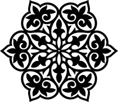 Billedresultat for stencil mandala Stencil Patterns, Stencil Designs, Tile Patterns, Stencils, Stencil Art, Machine Silhouette Portrait, Diy And Crafts, Paper Crafts, Metal Embossing