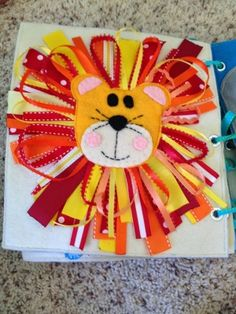 The Quiet Book Blog, I like the lion and mail box on this page. Can be made using the no sew method.