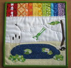 Beautiful Frog Quilt.