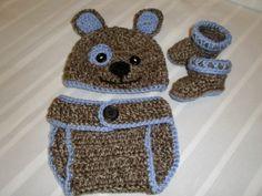 Crochet el sombrero del bebé cachorro botines y por crafthappenz, $45.00