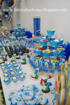 Smurfs Birthday Party Themes Birthday Party Themes pertaining to Smurfette Birthday Party - Best Birthday Party Ideas Birthday Party Images, 1st Birthday Party Themes, 1st Boy Birthday, Birthday Party Decorations, Sonic Birthday, Minion Birthday, Creations, Party Ideas, Party Party