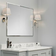 Chrome Framed Bathroom Mirrors 45 modern bathroom interior design ideas | beige tile bathroom