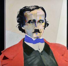 "Saatchi Art Artist Mimmo Frassineti; Painting, ""Edgard Allan Poe"""