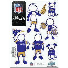 Baltimore Ravens NFL Family Car Decal Set (Small)
